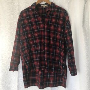 J.O.A. Flannel High-Low Shirt